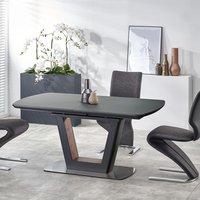 Harold matbord - Svart/valnöt