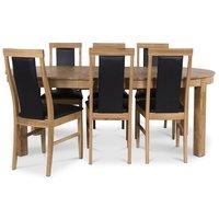 Dalarö matgrupp Ovalt bord ek + 6 st Jasmine stolar