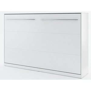 Sängskåp compact living Horisontellt (120x200 cm fällbar säng) - Vit (Matt)