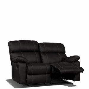 Leo 2-sits reclinersoffa - Svart