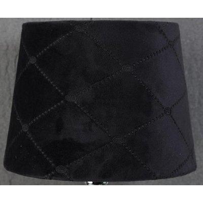 Velvet Diamond lampskärm 20 cm - Svart
