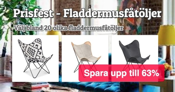 Fladdermusfåtöljer - Prisfest!