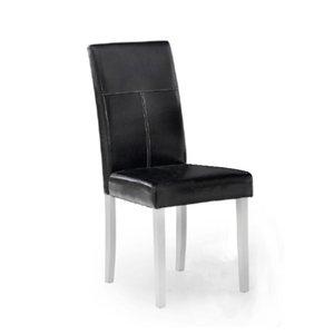 Texas stol med svart PU - Vita ben