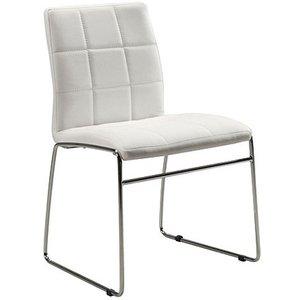Cube stol - Vit (PU) / Krom