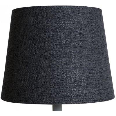 Rund lampskärm 22x28x22 cm - Grå (grovt linne)