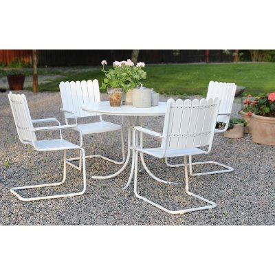 Holmsund matgrupp bord inkl. 4 stolar - Vit