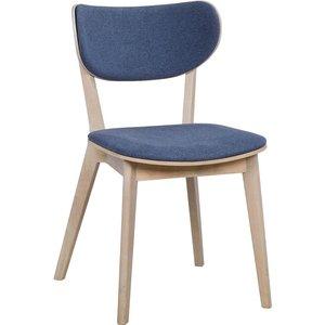 Camila stol - Whitewash ek/blå
