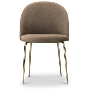 Tiffany velvet stol - Brun/Mässing