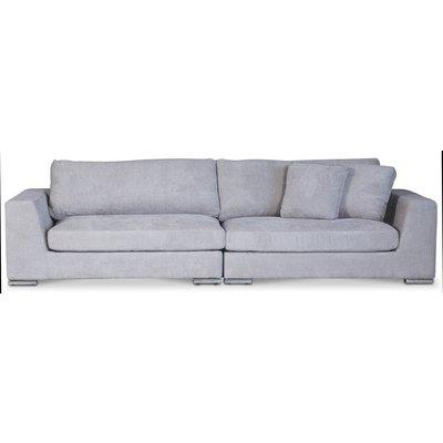 Nest loungesoffa XL 312 cm - Silvergrå