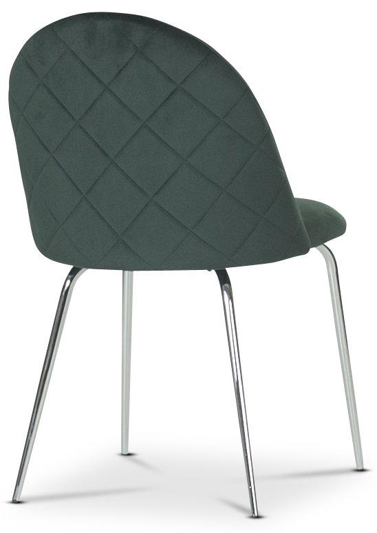Plaza velvet stol Grön Krom