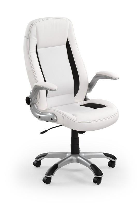 kontorsstol vit läder