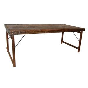 Östersund vikbart matbord 200 cm - Vintage trä/metall