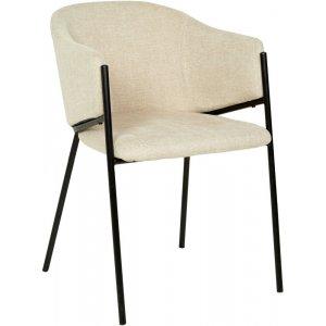 Stacey karmstol - Beige/svart