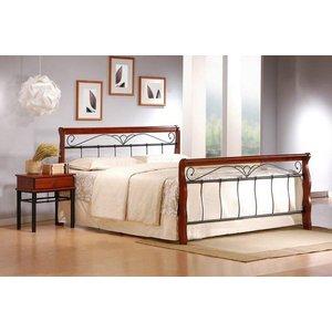 Anika 160 cm säng - antik körsbär/svart