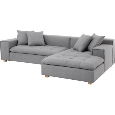Downtown 2-sits soffa med Divan - Ljus grå