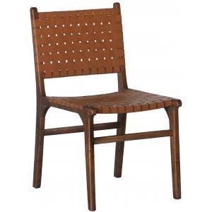 Porto Bello stol - Konjak / Valnöt