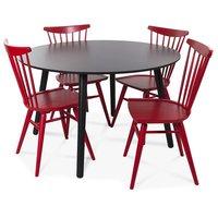 Rosvik matgrupp, matbord med 4 st Carisma sammetsstolar