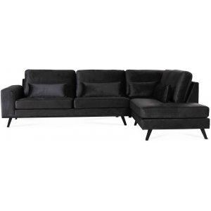 Ranger soffa med öppet avslut höger - Antracitgrå (sammet)