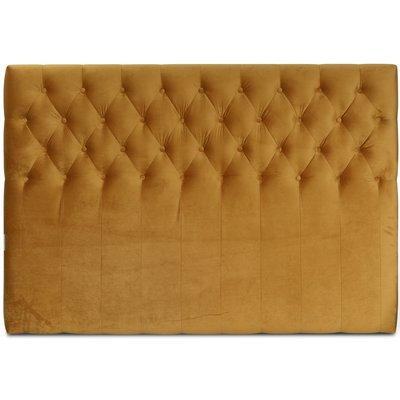 Anna sänggavel med knappar (Guld sammet) - Valfri bredd