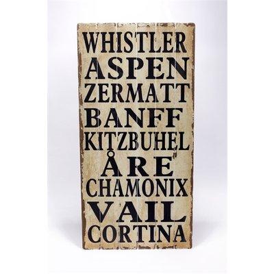Trätavla - Whistler