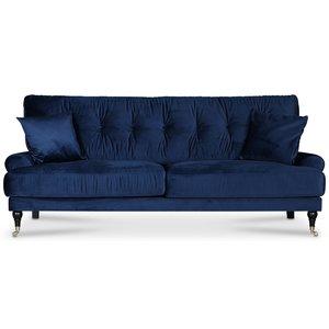 Adena 3-sits soffa - Midnattsblå sammet