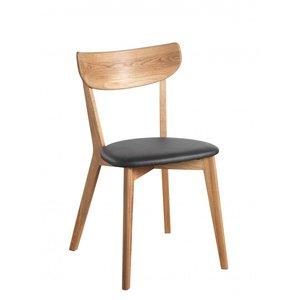 Hannah stol - Ek/svart konstläder