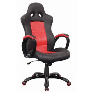 Maia kontorsstol - Svart/röd