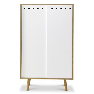 HAY bokskåp med skjutdörrar (vit | ek)