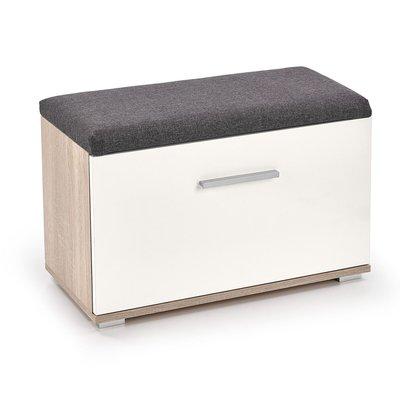 Abdel skoskåp med sits - Sonoma ek/vit