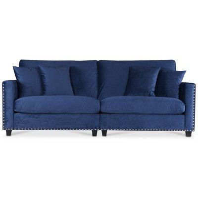 Bellino 4-sits soffa - Blå Sammet