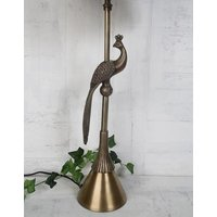 Påfågel bordslampa 51 cm - Mässing