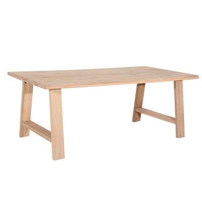 Quebec matbord med H-ben - Vitoljad ek