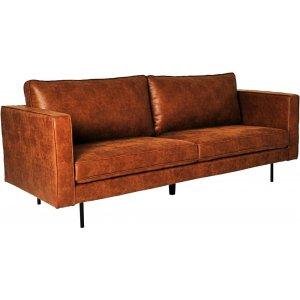 Balbus 3-sits soffa - Cognac