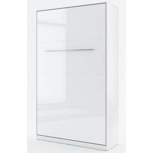 Sängskåp compact living Vertikalt (120x200 cm fällbar säng) - Vit Högglans