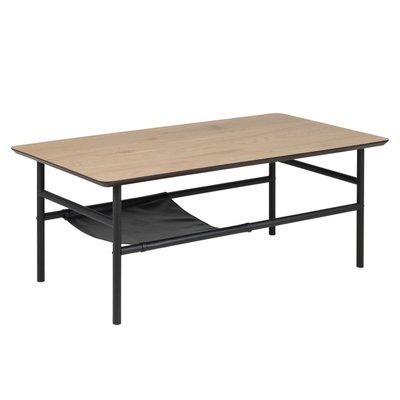 Norman soffbord - Ek/svart