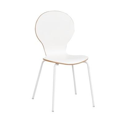 Bailey stol - Vit-laminat/ek