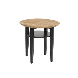 Michigan 60 soffbord - Naturligt trä/svart