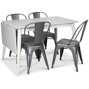 Tärnö matgrupp, Klaffbord med 4 st plåtstolar