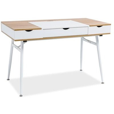 Plugga skrivbord - Vit