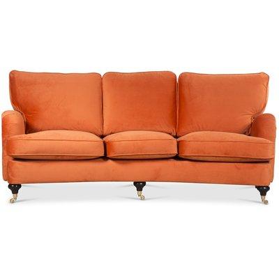 Howard Watford deluxe 4-sits svängd soffa - Orange sammet