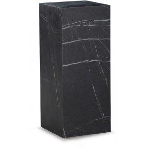 Sikfors piedestal - Svart marmorimitation