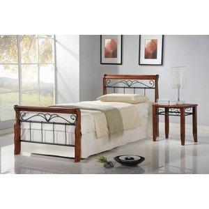 Anika 90 cm säng - antik körsbär/svart