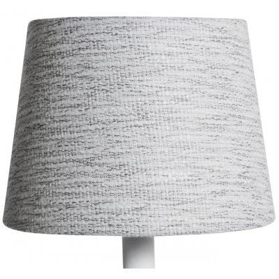 Rund lampskärm 16x20x15 cm - Ljus (grovt linne)