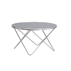 Seren soffbord - Grått glas/krom