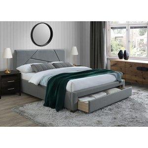 Mica säng med förvaring - Grå (Tyg)