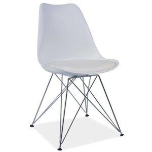 Cristina stol - Vit/krom