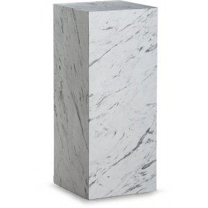 Sikfors piedestal - Vit marmorimitation