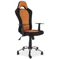 Leanna skrivbordsstol - Svart/orange