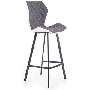 Erin barstol hög - Vit/grå