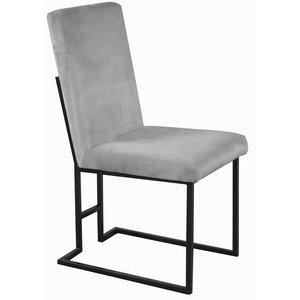 Simple stol - Gråbeige sammet